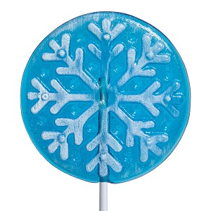 Frosted Snowflake Circle Lollipops: 12 Pack