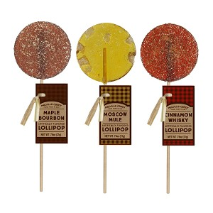 MOSCOW MULE, MAPLE BOURBON, & CINNAMON WHISKY Cocktail Lollipops: 12 Pack