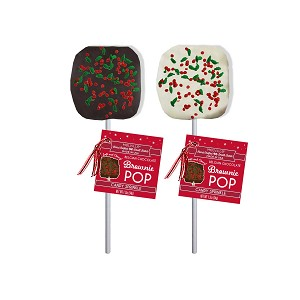 Holly Confetti Brownie Pops: 12 Pack