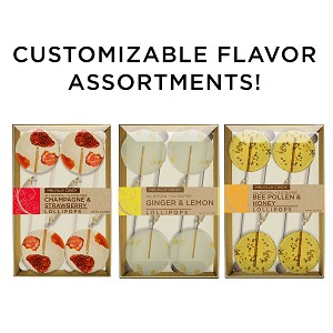 Customizable Gourmet Flavor Lollipop Sampler: (3) 4PK Kraft Gift Sets
