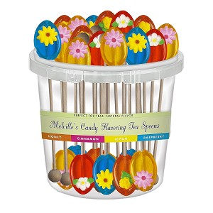 Flower Honey Spoons: 50 Pack Bucket