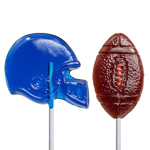 Football Lollipop Assortment: 12 Pack
