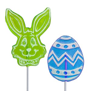 Frosted Egg & Bunny Lollipop Assortment: 24 Pack