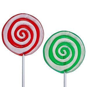 Frosted Peppermint Swirl Lollipops: 24 Pack