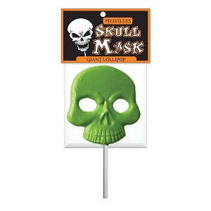 Giant Skull Lollipop Masks: 12 Pack w/ Peg Tag