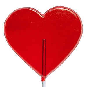 Giant Heart Lollipops: 6 Pack