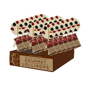 Blueberry & Pomegranate Gourmet Lollipops: 24 Pack Display