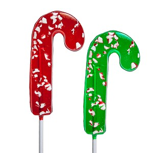 Icon Peppermint Candy Cane Lollipops: 24 Pack