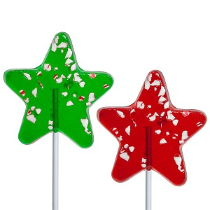 Icon Peppermint Star Lollipops: 24 Pack