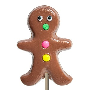 Large Gingerbread Man Lollipops</br>Pack 24