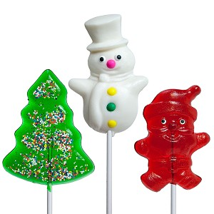 Large Holiday Lollipop Assortment: 24 Pack