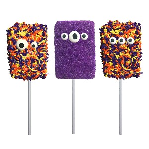 Halloween Monster Marshmallow Lollipops: 12 Pack