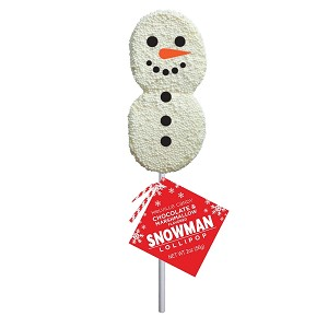 Snowman Marshmallow Lollipops: 12 Pack