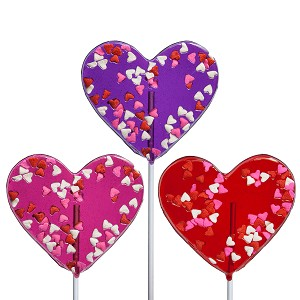 Valentine Confetti Heart Lollipops: 24 Pack