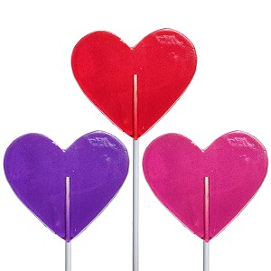 Valentine Medium Heart Lollipops: 12 Pack