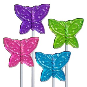 Mini Butterfly Lollipops: 12 Pack