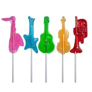 Musical Instrument Lollipops: 24 Pack