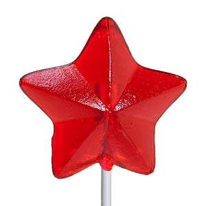 Nostalgic Star Lollipops: 24 Pack