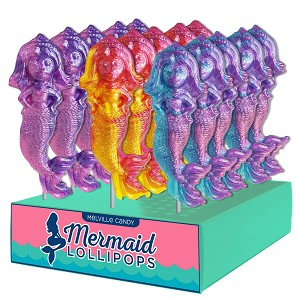 Glitter Swirl Mermaid Lollipops: 24 Pack Display