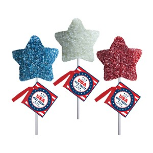 Patriotic Marshmallow Stars: 12 Pack