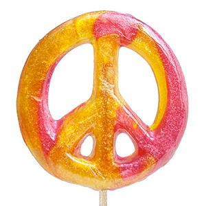 Peace Sign Lollipops: 12 Pack