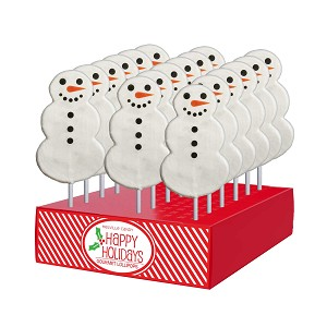2oz Snowman Lollipops: 24 Pack Display