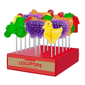 Farm Lollipop Assortment: 24 Pack Display
