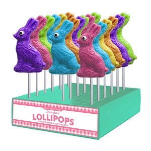 Bunny Profile Lollipops: 24 Pack Display
