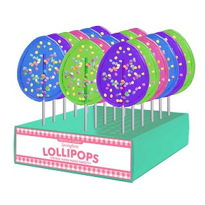 Confetti Egg Lollipops: 24 Pack Display