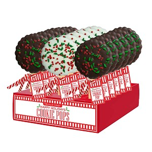 Holiday Confetti Cookie Pops: 18 Pack Display