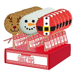 Holiday Cookie Pop Assortment: 18 Pack Display