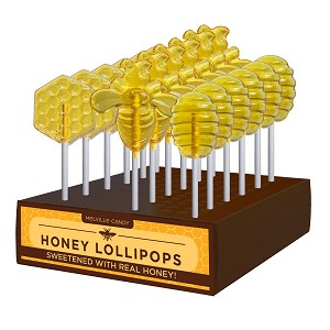 Kosher Honey Hive Lollipop Assortment: 24 Pack Display
