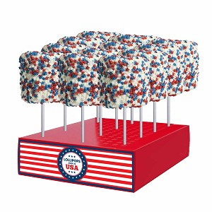 Giant Patriotic Star Marshmallows: 12 Pack Display
