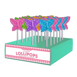 Mini Butterfly Lollipops: 24 Pack Display