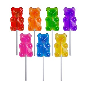 Sugar Bear Lollipops: 12 Pack