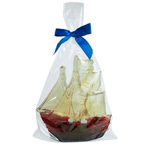 3D Tallship Hard Candy Figurine: 1 Pack