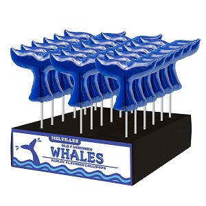 Whale Tail Lollipops: 24 Pack Display