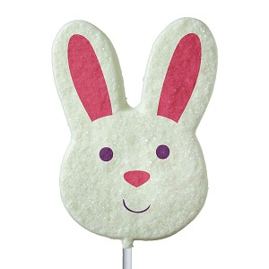 Sanded Bunny Face Lollipops: 12 Pack