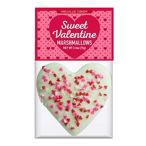 Confetti Heart Marshmallow Toppers: (12) 1 Pack Bag