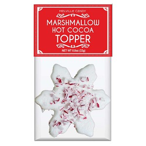 Peppermint Snowflake Marshmallow Toppers: (12) 1 Pack Bags