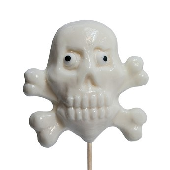 Happy Halloween Skull and Crossbones Lollipops</br>Pack 24