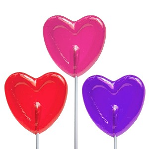 Valentine Small Heart Lollipops: 24 Pack