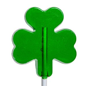 Small Shamrock Lollipops: 24 Pack