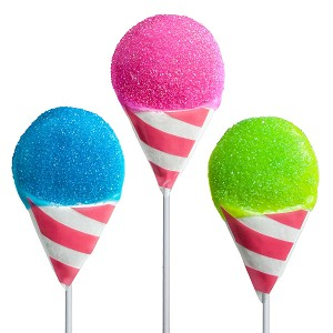 Kosher Snow Cone Lollipops: 12 Pack