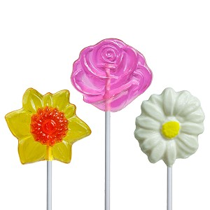 Sweet Flower Lollipop Assortment: 12 Pack