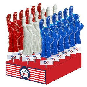 Statue of Liberty Lollipops: 24 Pack Display