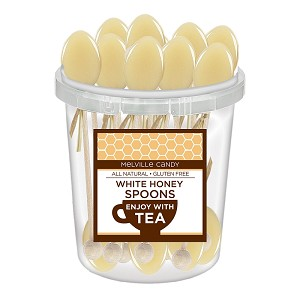 White Honey Spoons: 30 Pack Bucket